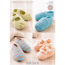 (4509 Crochet Shoes)