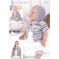 4517 Cardigan, Bonnet & Blanket
