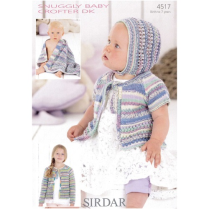 (4517 Cardigan, Bonnet & Blanket)