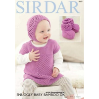 SLX 4669 Dress, Bonnet, Bootees