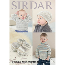 (SLX 4672 Sweater, Hat and Bootees)