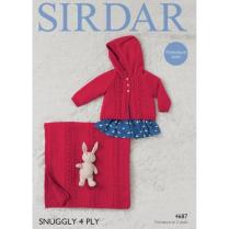 (4687 Baby Girls Jacket & Blanket)