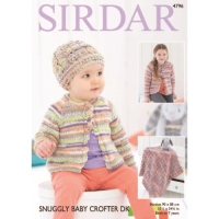4796 Cardi, Hat and Blanket