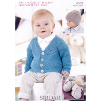 (SLX 4589 Cardi, Hat and Bootees)