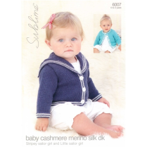 (6007 Sailor Style Cardigans 8 Ply)