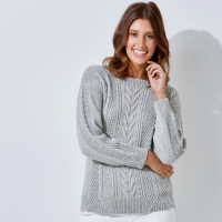 Tx458 Cabled Sweater