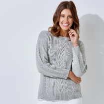 (Tx458 Cabled Sweater)