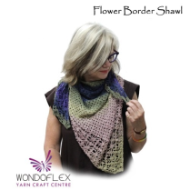 (Flower Border Shawl)