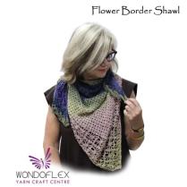 (Flower Border Shawl)