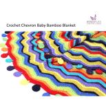 wx001 Chevron Baby  Blanket